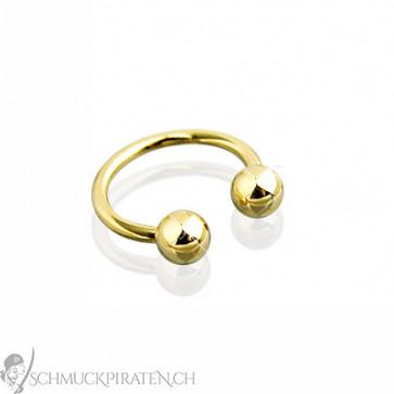 Goldenes Piercing Horseshoe für Lippe, Brust und Augenbraue