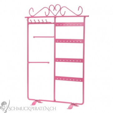 schmuckst nder f r ketten ohrringe armb nder in pink. Black Bedroom Furniture Sets. Home Design Ideas