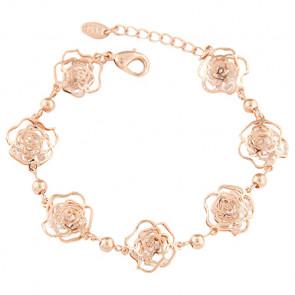 Damen Armband in rosegold mit Blumen - Modeschmuck- Bild 1