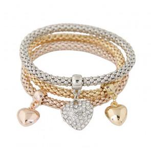 Armband Set Herzen in gold, silber und roségold-Bild 1