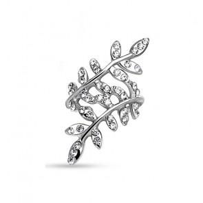 Ear Cuff Ohrring Blatt in silber-Bild 1