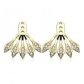 Ear Jackets in gold mit hellen Steinen-Bild 1