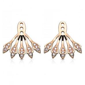 Ear Jackets in roségold mit hellen Steinen-Bild 1