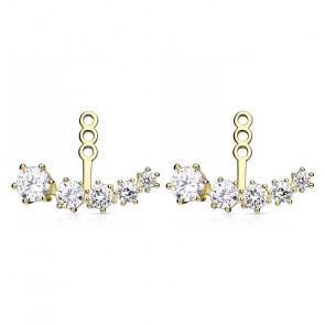 Ear Jacket Ohrringe in gold mit fünf Steinen-Bild 1