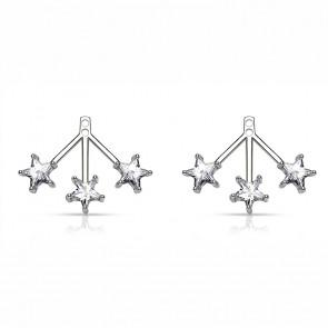 Ear Jacket Ohrringe in silber mit Sternen aus Zirkonia-Bild 1
