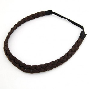 Damen Haarband geflochten in dunkelbraun