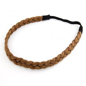 Geflochtenes Haarband in braun für Damen-Bild 1