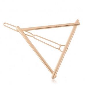 Haarklammer Dreieck Design gold - Bild 1