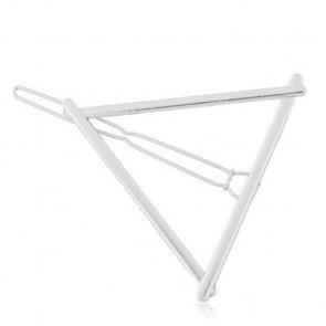 Haarklammer Dreieck Design silber - Bild 1