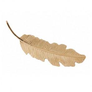 Blatt Haarspange/Haarklammer in gold-Bild 1