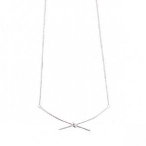 Halskette in silber im Schleifen Look