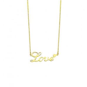 Halskette kurz mit Love Anhänger-Bild 1