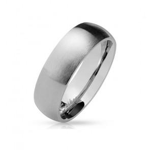 Herren Edelstahl Ring in mattem silber