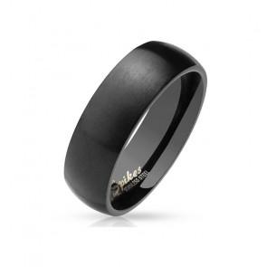 Ring für Herren Edelstahl in mattem schwarz