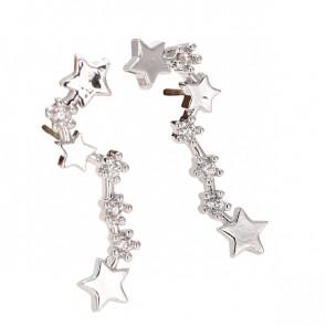 Ear Crawler mit Sternen in silber
