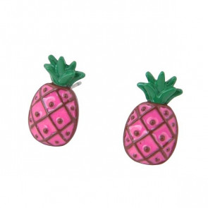Ananas Ohrstecker in pink
