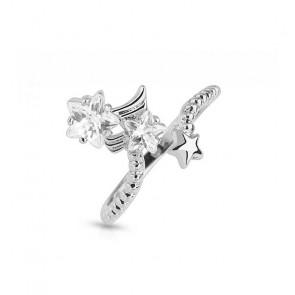 Süsser Ring in silber mit Sternen One Size-Bild 1